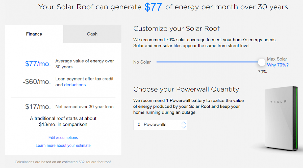 If I Paid Upfront In Cash For A Solar Roof 70 Tiles And 30 Non It Would Cost 27 720 Offset My Electric Bill By 77 Month